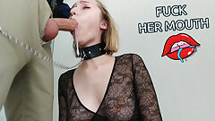 Chief Orders Escort Blonde to Fuck her Facehole Hard