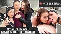 I FUCKED MY MAID and her BFF! MISSDEEP.com