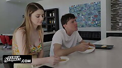 Stepbrother Pranks Bunny Colby And Fills Her With Hot Jizz