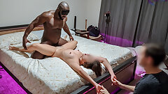 Asian cuckold gets used harshly in front of cuck beau