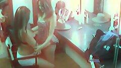Kinky lesbian strippers