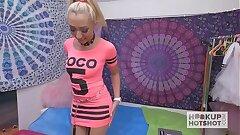 Platinum-blonde Doofy Gets Roughed Up on Hookup Hotshot