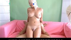 Gross blonde with big tits fucked hard