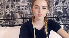 19 Yr Old Nubile Showcases Her Perfect Tits On Cam Part 2