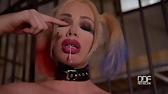 Chessie Kay fucks a baseball bat in Suicide crew Cosplay
