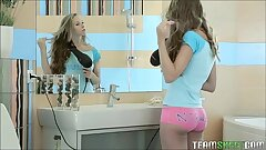 Super Hot Teen Goddess Gets Fucked In The Bathroom
