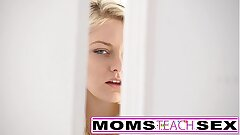 Step mom and sonnie make teen squirt in hot 3 way