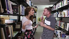 Pounding a hot teen dark-haired (Joseline Kelly) in the Library
