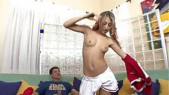 Big hard cock fills up beautiful tiny teenager Natalia Rossi student Natalia Rossi after blowjob
