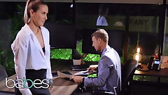 Sexy secretary Paige Owens pounded hard by her boss - BABES