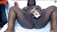 thick and strong 18 year old degrades ebony lady face picf