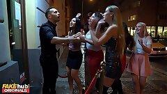 LADIES CLUB Asian Teenager Swallows Stripper's Jizm in Public Bathroom